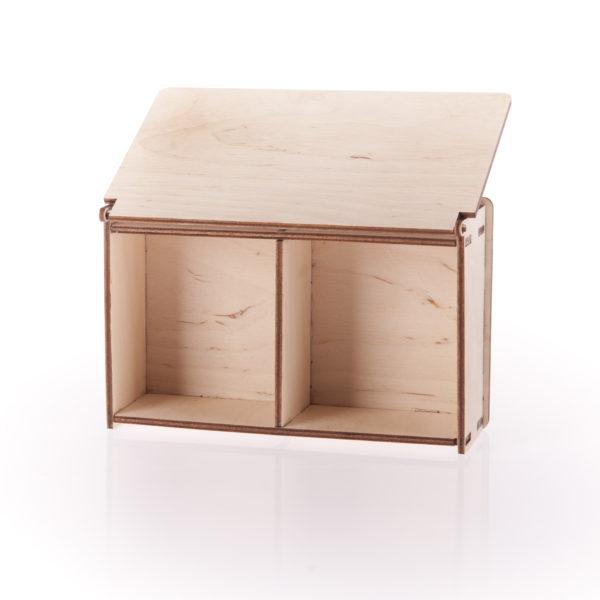 Pudełko na obrączki ślubne - podwójne