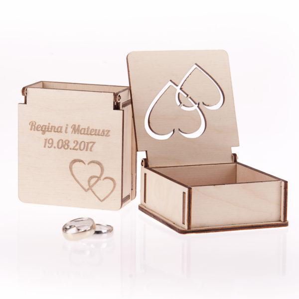 Pudełko na obrączki ślubne 6