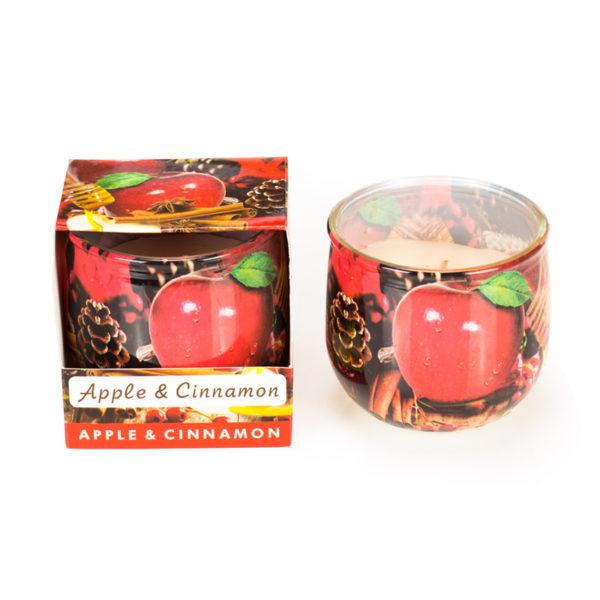 Świeca o zapachu jabłka i cynamonu