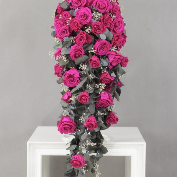 Wysłano doBukiet ślubny kaskada gorący róż