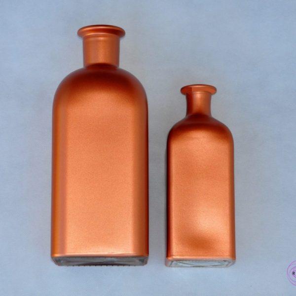 Butelka miedziana ręcznie malowana