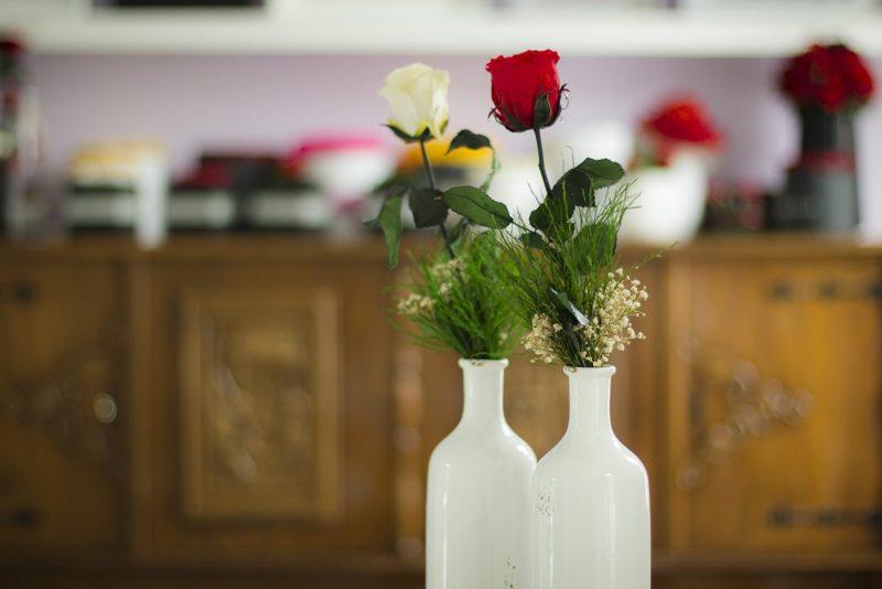 Zestaw róża długa z butelką