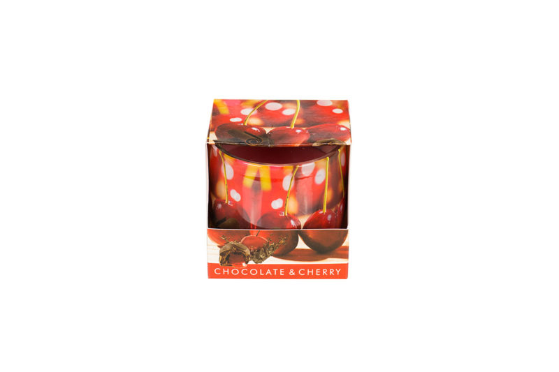 Świeca o zapachu czekolady i wiśni