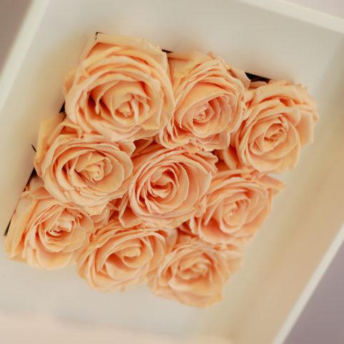 Ścienne dekoracje z kwiatów