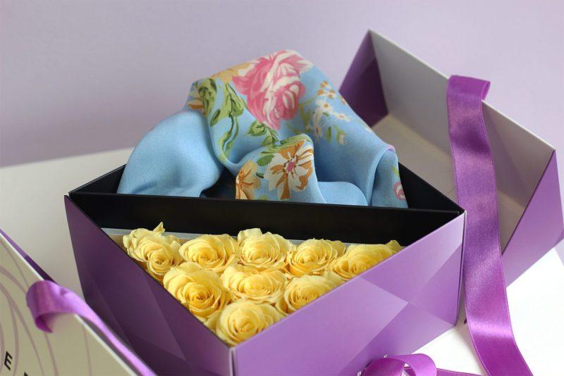 Kwiaty stabilizowane w pięknym boxie