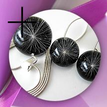 Naszyjnik i kolczyki czarne