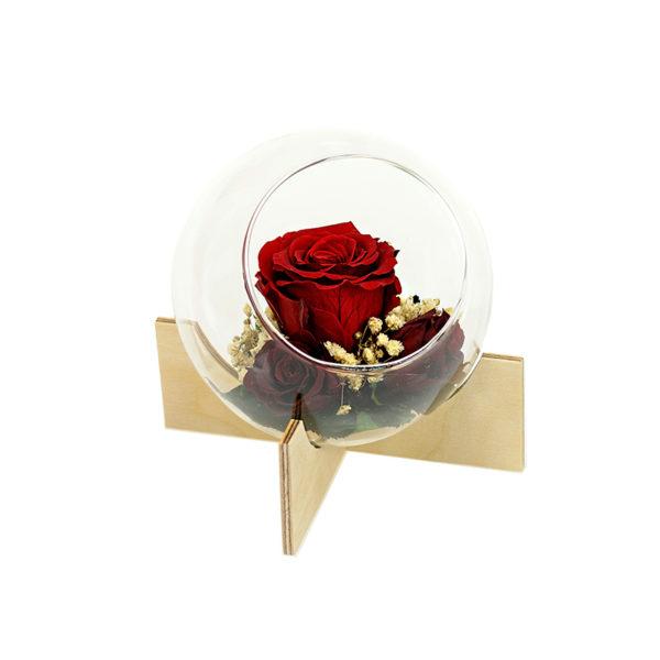 Kompozycja glass special na drewnianej podstawie