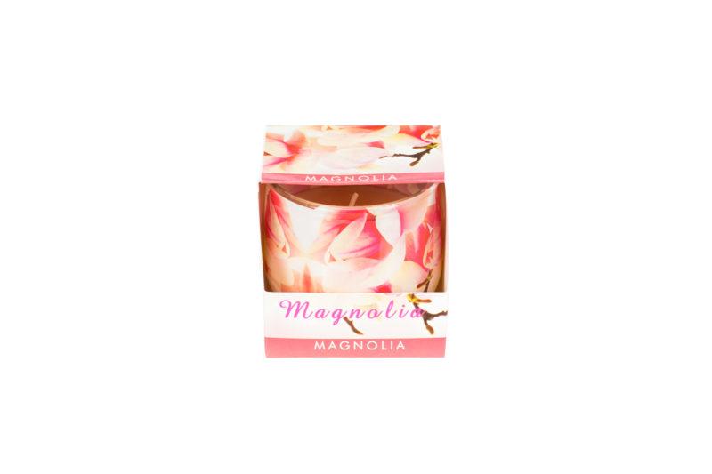 Świeca o zapachu magnolii