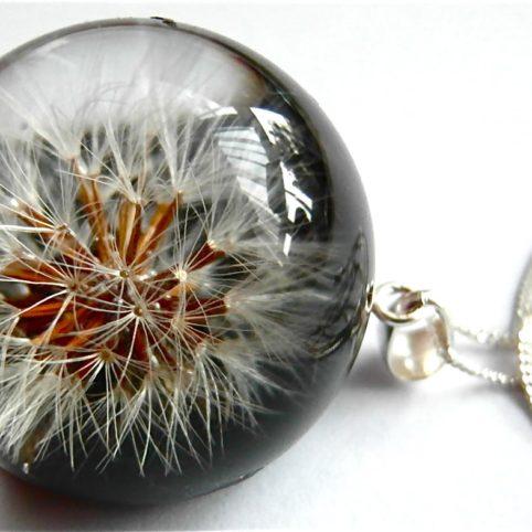 Oryginalny naszyjnik Rose Belle z nasionkami dmuchawca