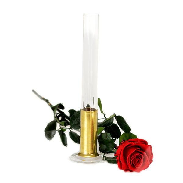 Róża w menzurce duża