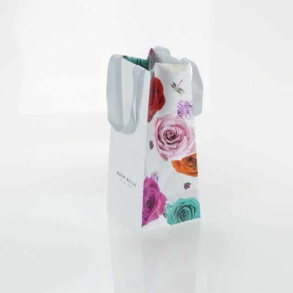 Torebka papierowa kwiaty