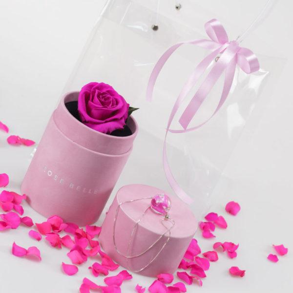 Zestaw Mini Box Special + Naszyjnik z płatkiem róży